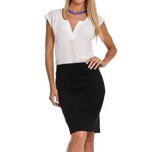 Katherine Barclay Black Pencil Skirt